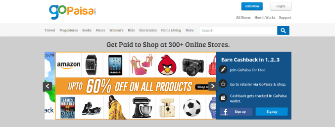 GoPaisa - The Highest Paying CashBack Portal In India