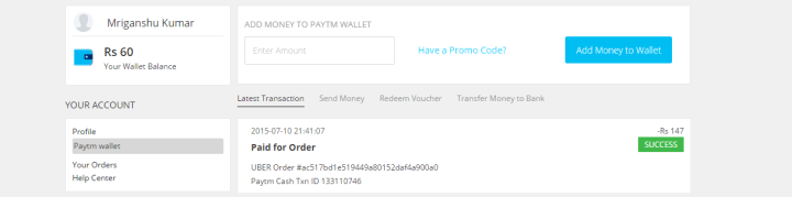 Money Deducted From Paytm Wallet