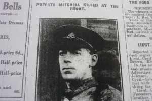 Wilfred Mitchell from Buxton Advertiser 2014
