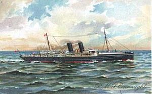 RMS Connaught. Troop Carrier Horace travelled to Le Harve on the ship
