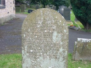 David Clayton, Parish Clerk from 1845-1869 buried at St Peters