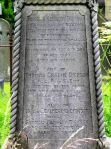 Thomas G Dickson St Peters Churchyard