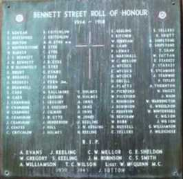 The Bennett Street Memorial, Buxton