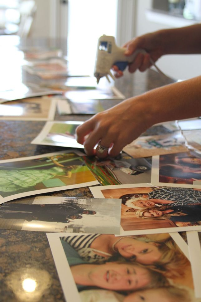 DIY Photo Table Runner on The sTORIbook Blog
