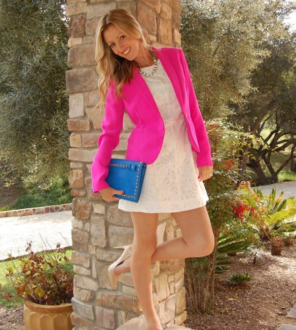 loft hot pink blazer