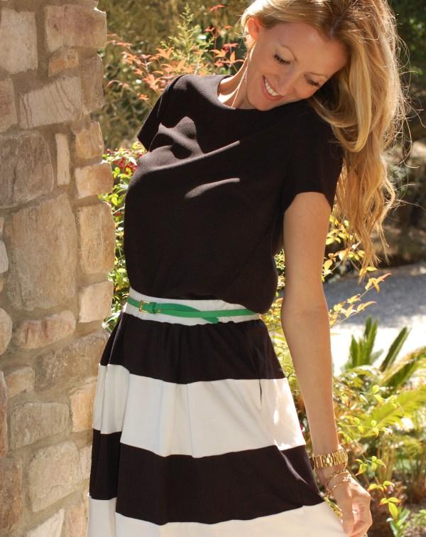 Pim & Larkin Striped Skirt Piperlime