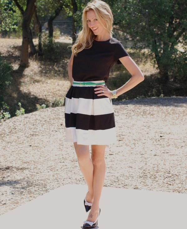 Pim & Larkin Striped Skirt