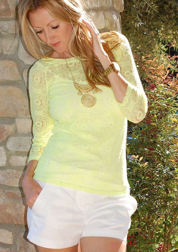 O'Neill Neon Lace Top