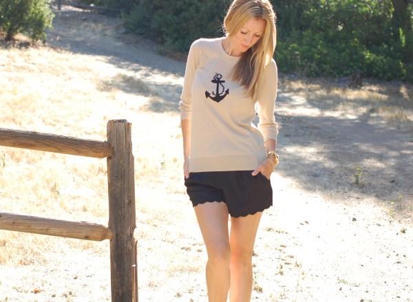 Jcrew Anchor Print Sweater