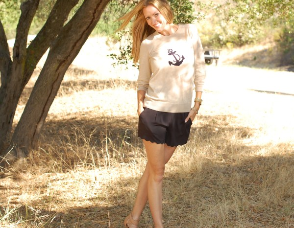 Lucca Couture scalloped shorts
