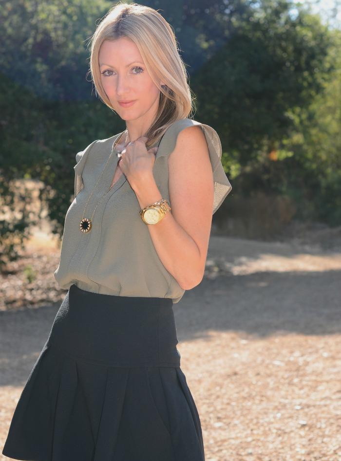 h&m ruffle sleeve top