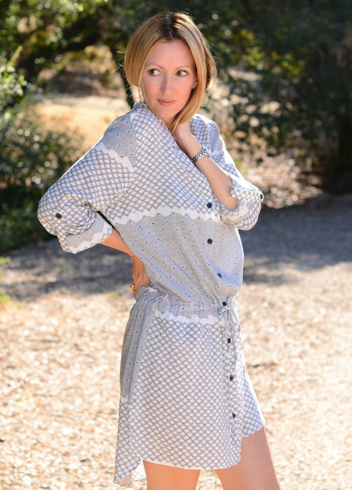 Swirl Shirt Dress