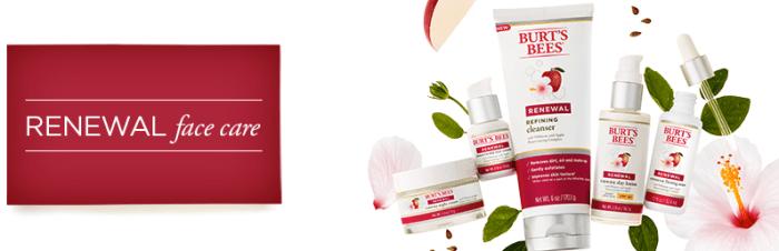 Burt's Bees Renewal Skincare Line