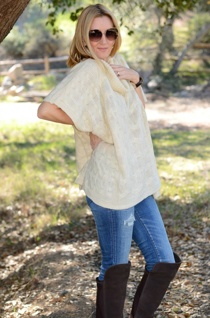 Golden Tote Poncho