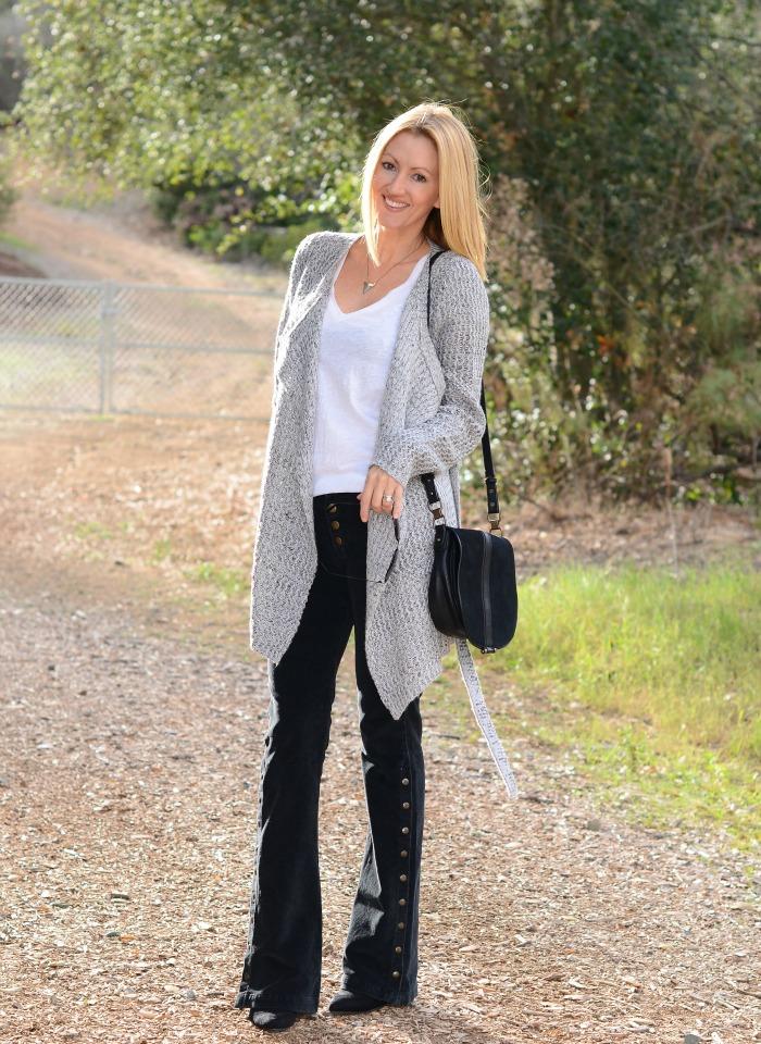 Gray Monroe Wrap Sweater