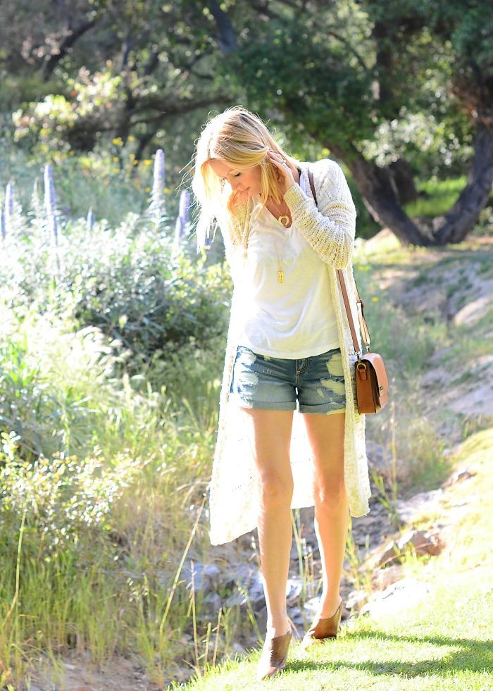 Gray Monroe Distressed Denim Shorts