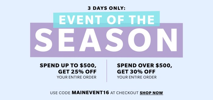 shopbop main event sale