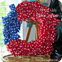 How To Make A DIY 4th of July Ribbon Wreath