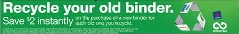 Staples Recycle Binder Coupon