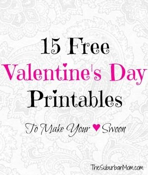 15 Free Valentine's Day Printables