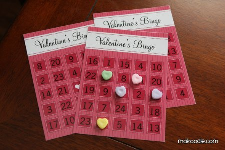 Valentine's Day Free Printable Bingo