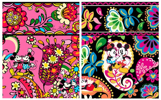Disney Minnie Mickey Mouse Vera Bradley Patterns