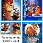 Buy The Lion King & Lady And The Tramp Before They Return To The Vault 4/30