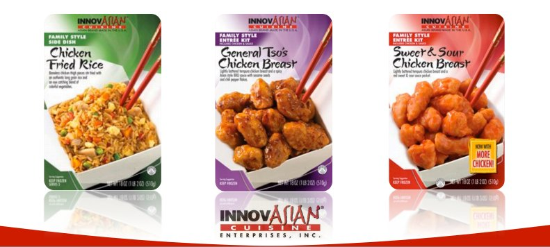 InnovAsian Cuisine Chicken Fried Rice, General Tso's Sweet Sour
