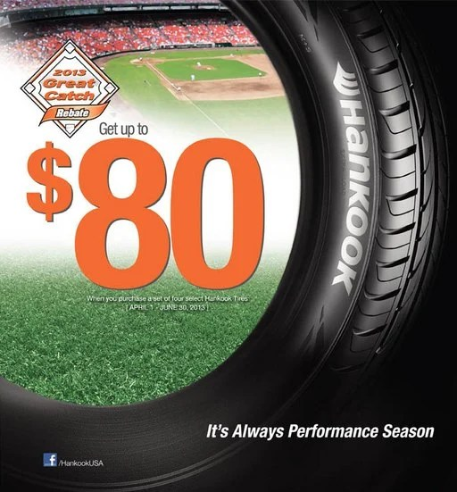 Hankook Tires $80 Rebate