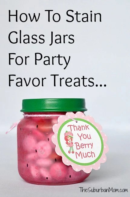How To Stain Glass Jars For Party Favor Treats