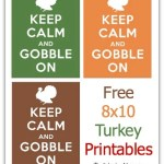 Keep Calm Gobble On Free Printable