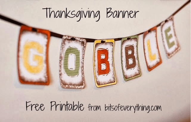 Thanksgiving Free Printable Banner 2