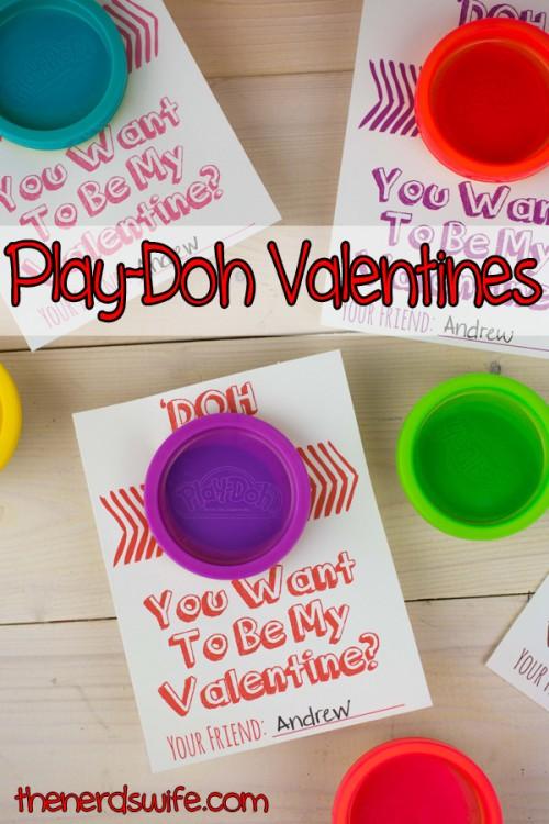 Play Doh Valentines