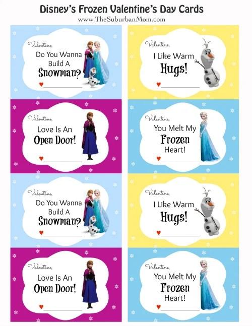 Disney Frozen Valentines Anna Elsa Olaf