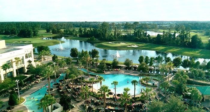 Hilton Bonnet Creek Resort Pool Lazy River View