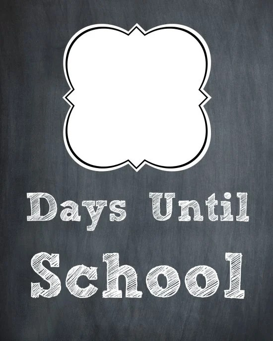 Chalkboard First Day of School Countdown 1