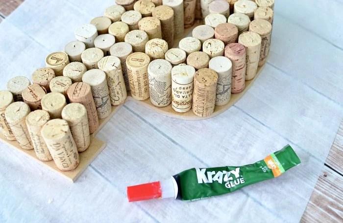 Wine Cork Letter Monogram DIY