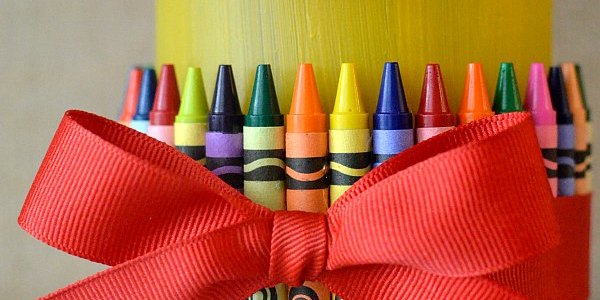 Teacher Gift Crayon Vase