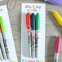 Sharpie Teacher's Gift Printable