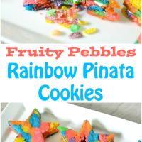 Rainbow Star Pinata Cookies