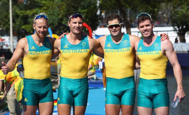 The Australian rowing team