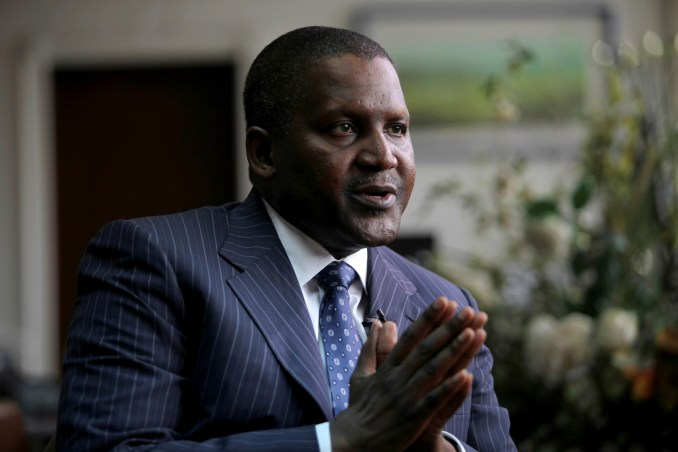 Aliko Dangote is worth an estimated £83.9billion and is Africa's richest man