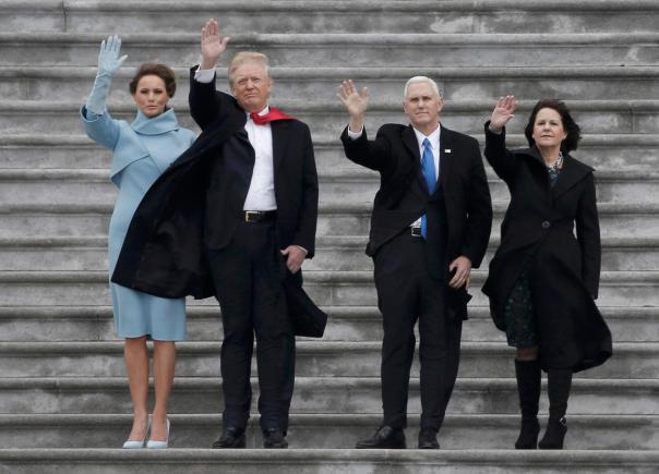 Trump waving goodbye