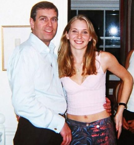 Virginia Roberts, pictured with Prince Andrew, claimed Brunel slept with her at 16