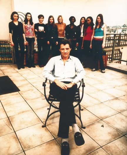Brunel is pictured with a group of models in 2001. There's no suggestion any of these women were victims of abuse