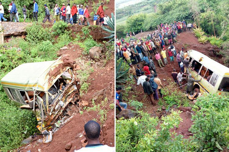 At least 32 schoolchildren killed along with two teachers and driver as school bus plunges down ...