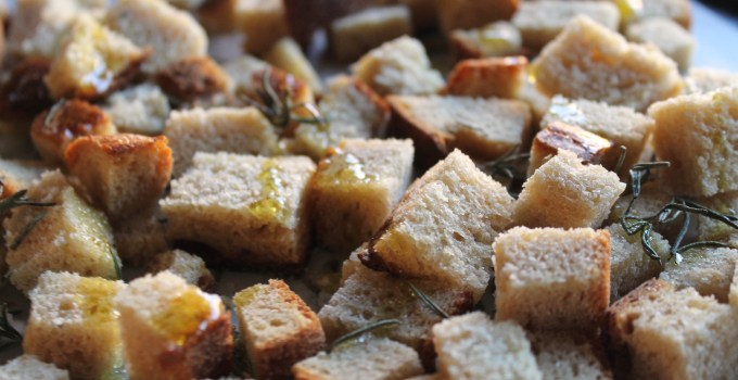 Rosemary Sourdough Croutons