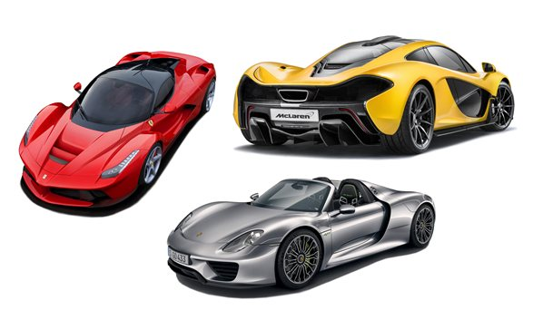 supercar drag race mclaren p1 vs laferrari vs porsche 918. Black Bedroom Furniture Sets. Home Design Ideas