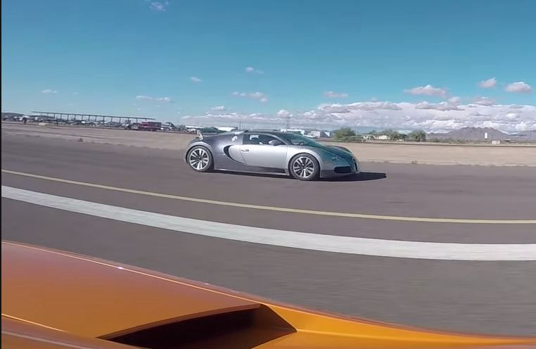 Drag Race UGR Twin Turbo Lamborghini Gallardo Vs Bugatti