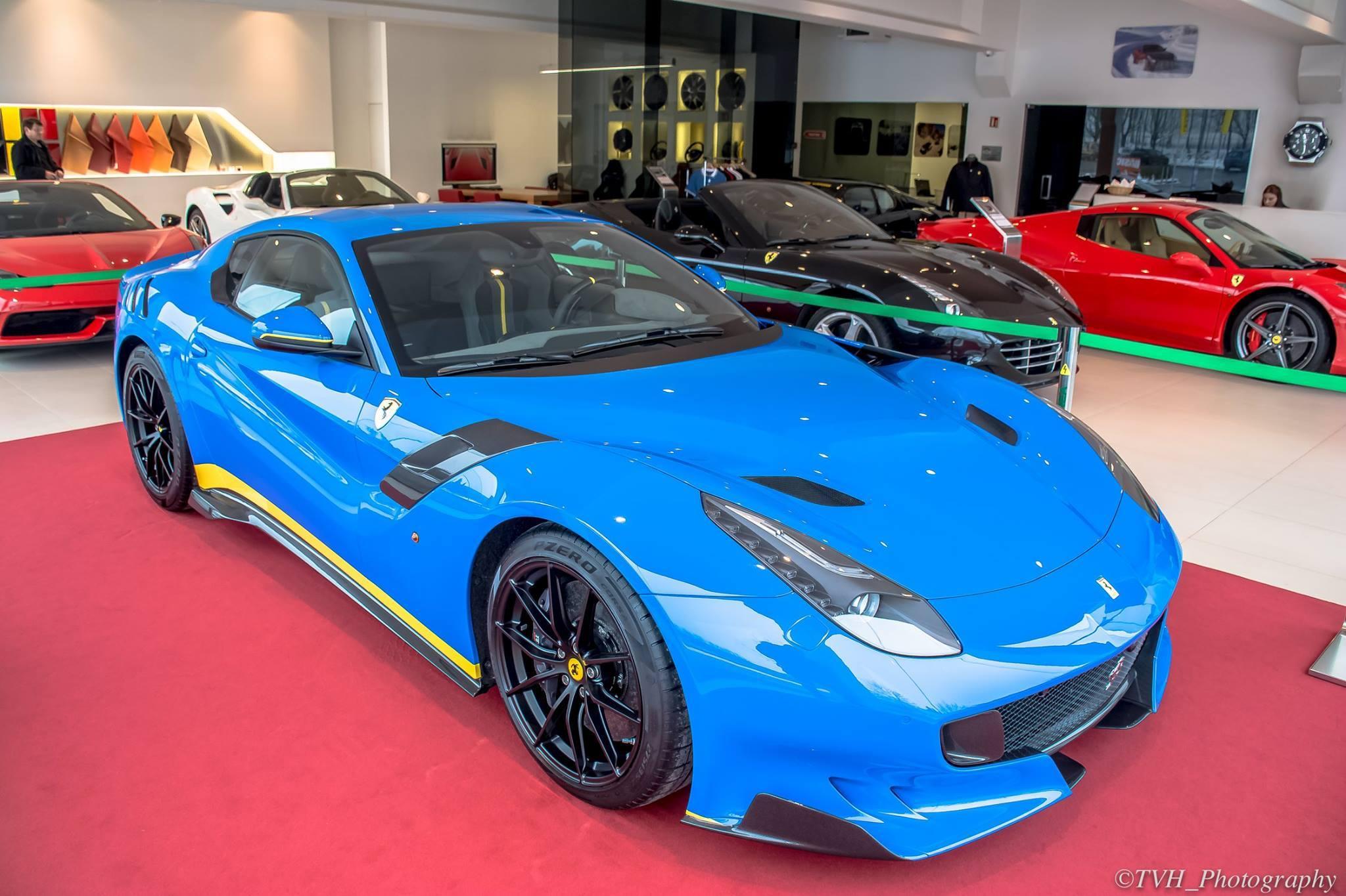 Blue Ferrari F12 TdF Spotted in Luxemburg